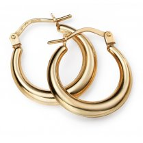 9ct Gold Lever Hoop Earrings