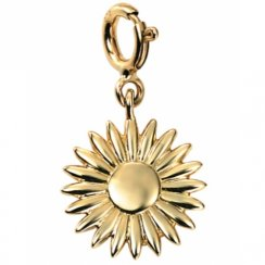 9ct Gold Sunflower Charm With Clasp