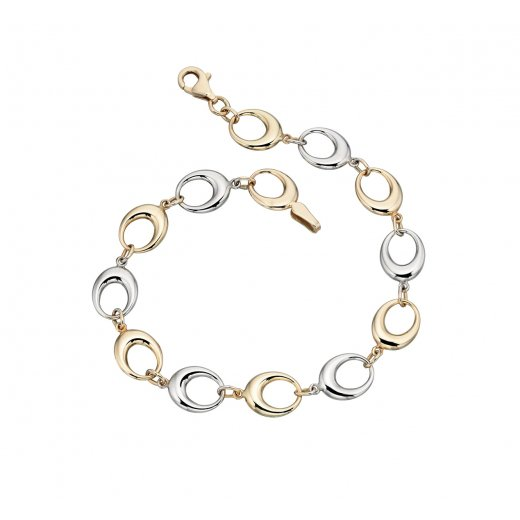 Cherubs Jewellery 9ct Gold Two Colour Bracelet