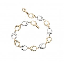 9ct Gold Two Colour Bracelet