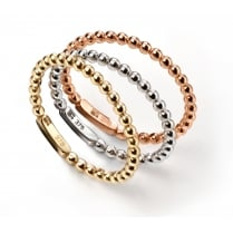 9ct Three colour gold set of three interlocking stacking rings