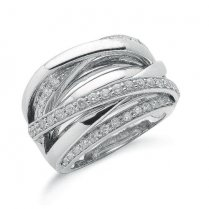 9ct White Gold Diamond Ring 1ct Diamonds