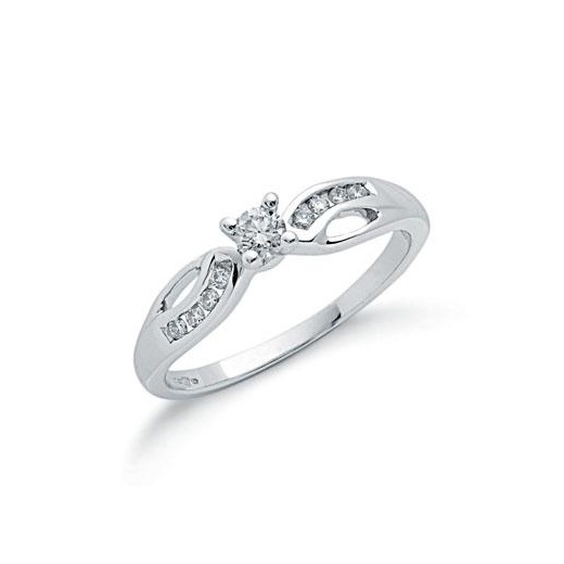 Cherubs Jewellery 9ct White Gold Diamond Ring .26ct