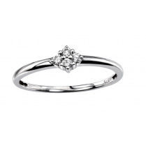 9ct White Gold Diamond Set Faith Ring