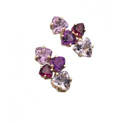 9ct Yellow Amethyst & Garnet Charlotte Earrings