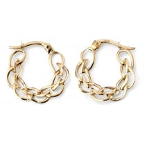 9ct Yellow Gold Celtic hoops