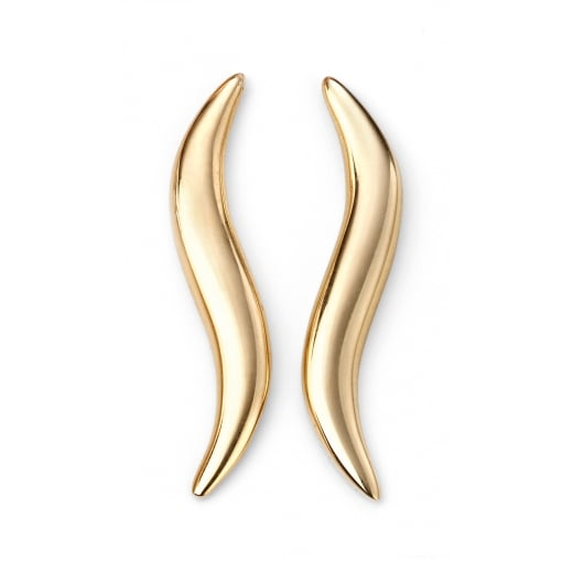 Cherubs Jewellery 9ct Yellow Gold Curved Climber Earring