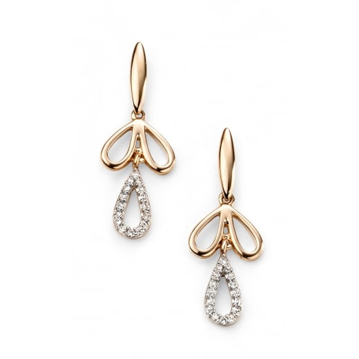 Cherubs Jewellery 9ct Yellow Gold Diamond Moreish Drop Earring