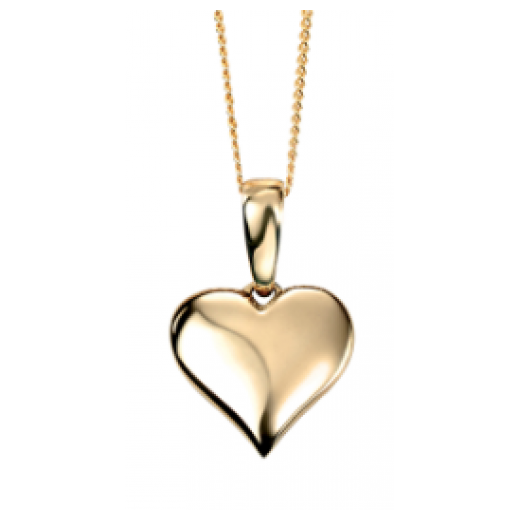 9ct yellow gold heart pendant 46cm gold chain cherubs jewellery 9ct yellow gold heart pendant 46cm gold chain aloadofball Gallery