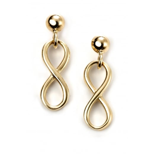 Cherubs Jewellery 9ct Yellow Gold infinity earrings
