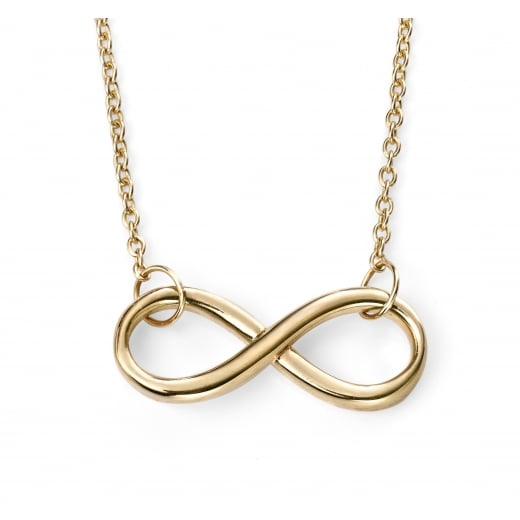 Cherubs Jewellery 9ct Yellow Gold infinity necklace