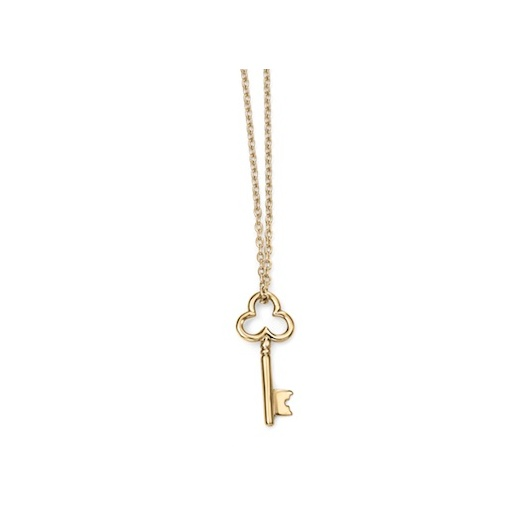 "Cherubs Jewellery 9ct Yellow Gold Key Pendant On A 45cm/17"" Gold Chain"