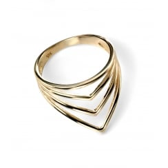 9ct Yellow gold spiked wrap ring