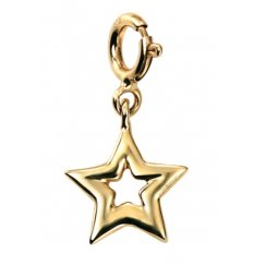 9ct Yellow Gold Star Charm With Clasp