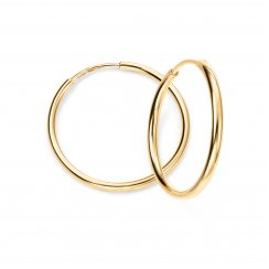 9ct Yellow Gold Thin Hoop Earrings