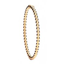 Beaded Gold Bangle With Hinge