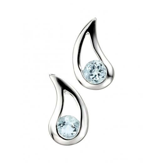 Cherubs Jewellery Blue Topaz Earrings Teardrop Earrings