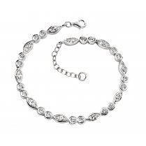 Bracelet With Marquise and Round CZ Stones