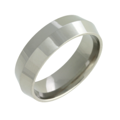Chunky Titanium Ring With Knife Edge Design