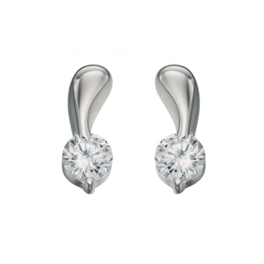 Cherubs Jewellery Clear CZ Twist stud earrings