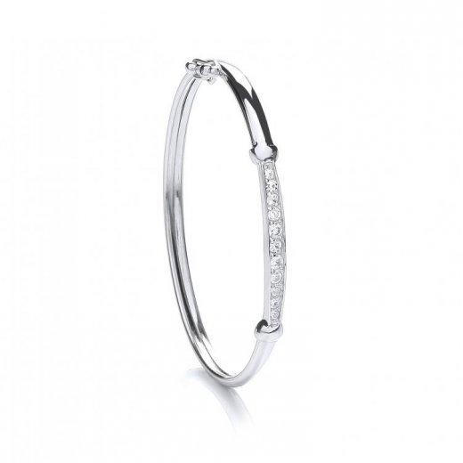 Cherubs Jewellery Cubic Zirconia Baby Bangle