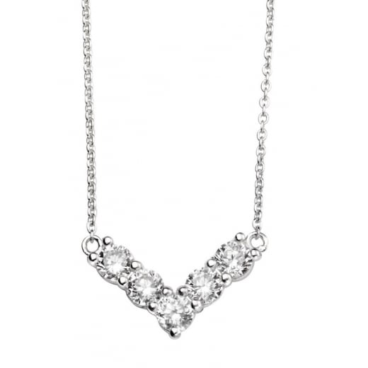 Cherubs Jewellery CZ Chevron Necklace