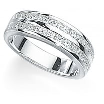 CZ Double Row Ring