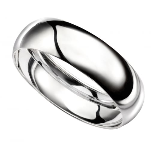 Cherubs Jewellery D Shaped Plain Bangle