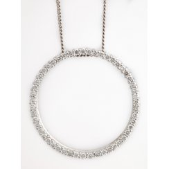 Diamond Circle Pendant 1ct Diamonds