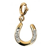 Diamond Set Horseshoe Charm