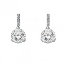 Drop Earrings With Cubic Zirconia