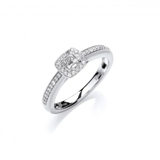 Cherubs Jewellery Fancy 18ct White Gold Diamond Engagement Ring .25ct