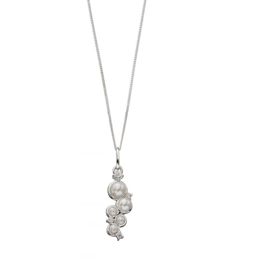 Cherubs Jewellery Five Freshwater Pearl With CZ Pendant