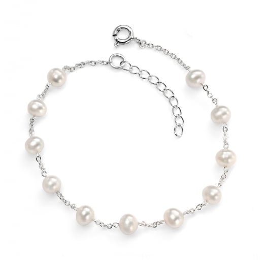 Cherubs Jewellery Fresh Water Pearl Bracelet With Silver Chain
