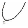 Cherubs Jewellery Freshwater Pearl & Silver Heart Necklace