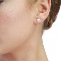 Freshwater Pearls On Silver For Pierced Ears