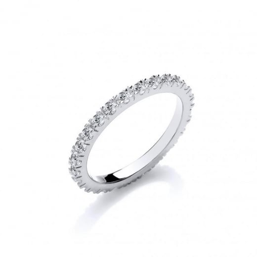 Cherubs Jewellery Fully Set CZ Eternity Ring
