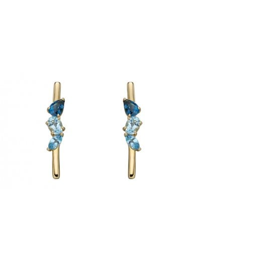 Cherubs Jewellery Gold Topaz Stick Earrings