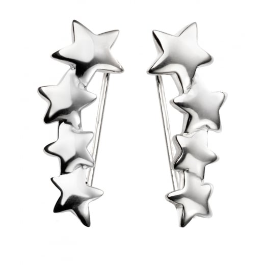 Cherubs Jewellery Graduated Star Crawler Earrings