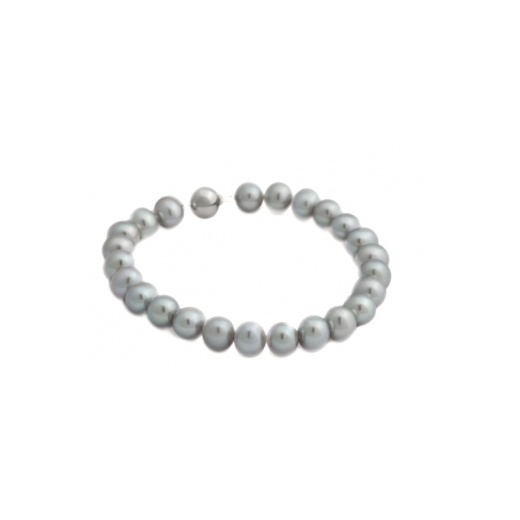 Cherubs Jewellery Grey Freshwater Pearl Bracelet With 9ct White Gold Ball Clasp