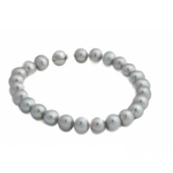 Grey Freshwater Pearl Bracelet With 9ct White Gold Ball Clasp