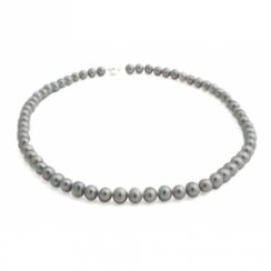 Grey Freshwater Pearls With 9ct White Gold Ball Clasp