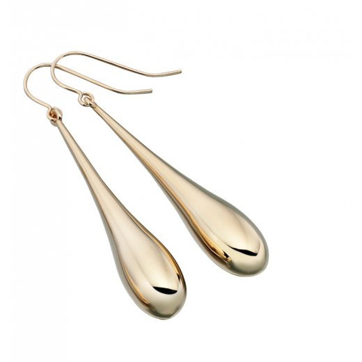 Cherubs Jewellery Long 9ct Gold Drop Earrings With French Hook