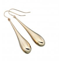 Long 9ct Gold Drop Earrings With French Hook