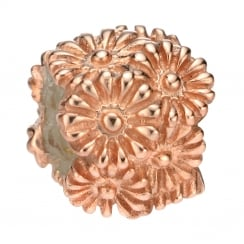 Mixed Flower Bead Rose Gold Plated