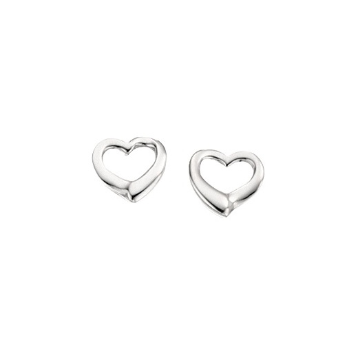 Cherubs Jewellery Open Design Heart Stud Earrings