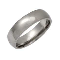 Palladium Heavy Court Shaped Wedding Ring 5mm
