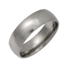 Palladium Heavy Court Shapes Wedding Ring 7mm