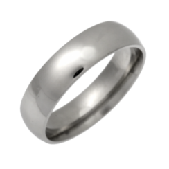 Palladium Light Court Shaped Wedding Ring 5mm