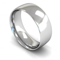 Palladium Medium Court Wedding Ring 8mm